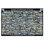 County Courthouses of Tex Horizontal Black Poster