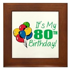 It's My 80th Birthday (Balloons) Framed Tile