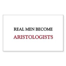 Real Men Become Aristologists Rectangle Decal