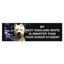 westie Honor student Bumper Bumper Sticker