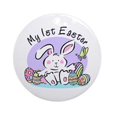 My 1st Easter Bunny Ornament (Round)