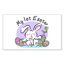 My 1st Easter Bunny Rectangle Decal