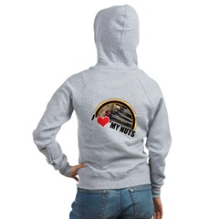 I Love My Nuts Women's Zip Hoodie