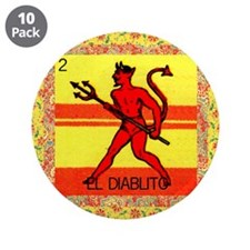 "Vintage Loteria Devil 3.5"" Button (10 pack)"