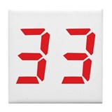 33 thirty-three red alarm clo Tile Coaster