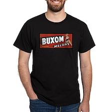 Buxom Melons Black T-Shirt