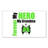 Lymphoma Hero Grandma Rectangle Decal