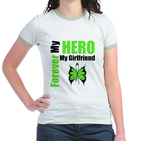 Lymphoma Hero Girlfriend Jr. Ringer T-Shirt