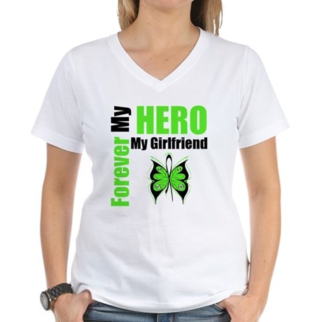 Lymphoma Hero Girlfriend Women's V-Neck T-Shirt