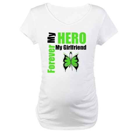 Lymphoma Hero Girlfriend Maternity T-Shirt