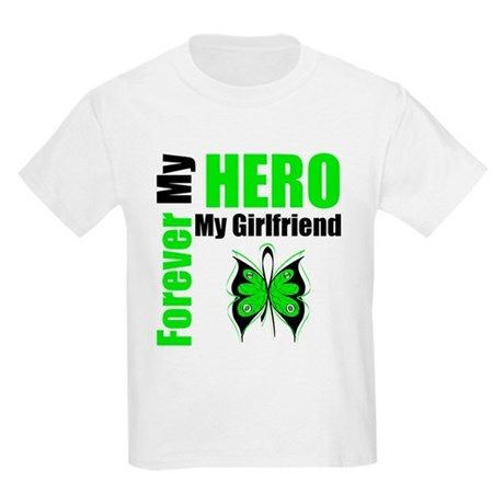 Lymphoma Hero Girlfriend Kids Light T-Shirt