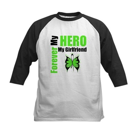 Lymphoma Hero Girlfriend Kids Baseball Jersey