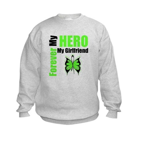 Lymphoma Hero Girlfriend Kids Sweatshirt