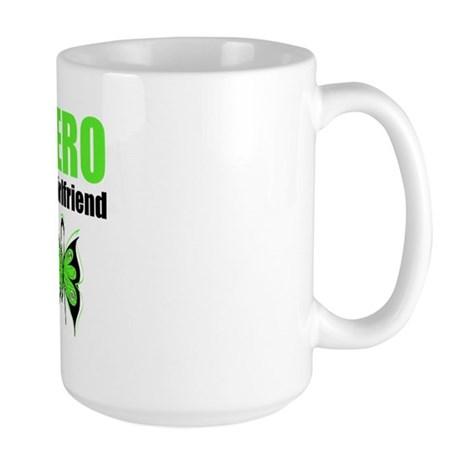 Lymphoma Hero Girlfriend Large Mug