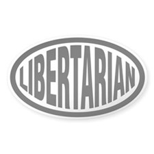Libertarian Oval Sticker (50 pk)