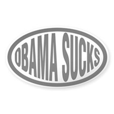Anti-Obama Bumper Decals Oval Decal