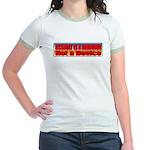 Assault is a Behavior Jr. Ringer T-Shirt