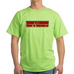 Assault is a Behavior Green T-Shirt