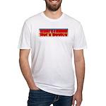 Assault is a Behavior Fitted T-Shirt