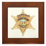 O.C. Harbor Police Framed Tile