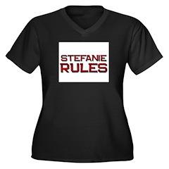 stefanie rules Women's Plus Size V-Neck Dark T-Shi