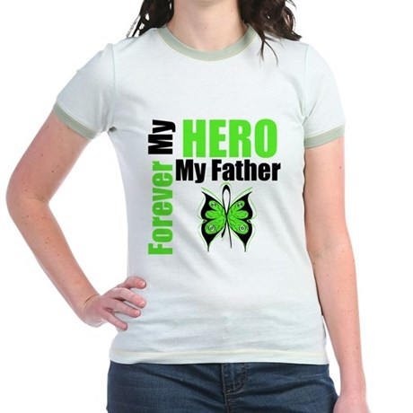 Lymphoma Hero Father Jr. Ringer T-Shirt