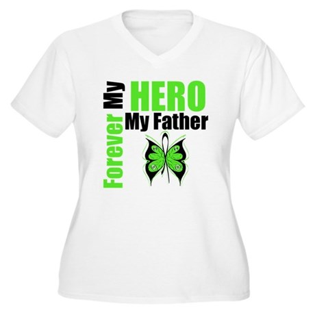 Lymphoma Hero Father Women's Plus Size V-Neck T-Sh