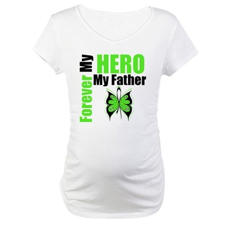 Lymphoma Hero Father Maternity T-Shirt