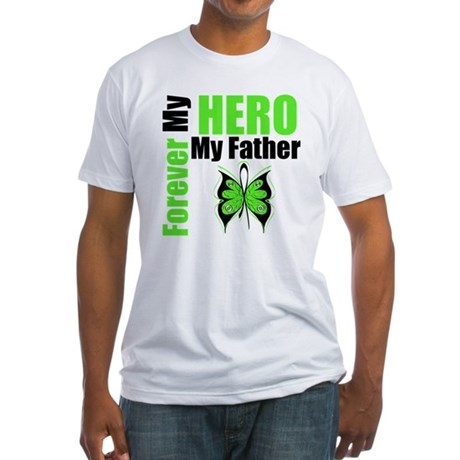 Lymphoma Hero Father Fitted T-Shirt