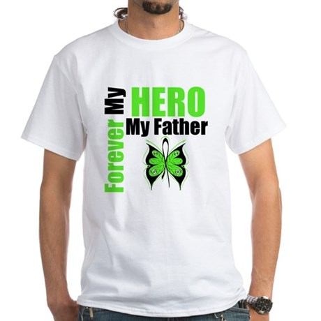 Lymphoma Hero Father White T-Shirt