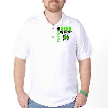 Lymphoma Hero Father Golf Shirt