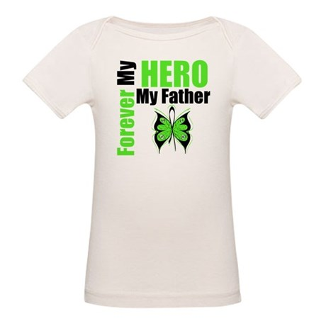 Lymphoma Hero Father Organic Baby T-Shirt