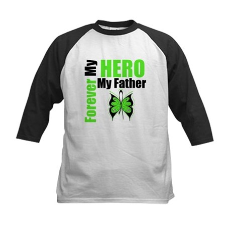 Lymphoma Hero Father Kids Baseball Jersey