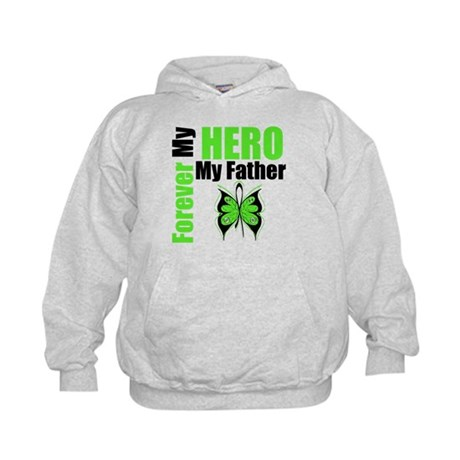 Lymphoma Hero Father Kids Hoodie