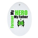 Lymphoma Hero Father Oval Ornament