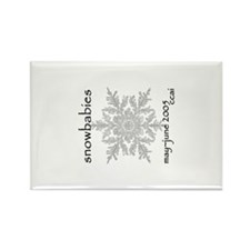 CCAI Snowbabies (black & white) Rectangle Magnet