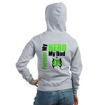 Lymphoma Hero Dad Women's Zip Hoodie