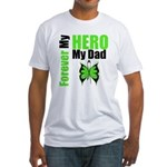 Lymphoma Hero Dad Fitted T-Shirt
