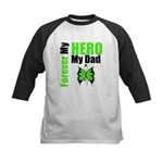 Lymphoma Hero Dad Kids Baseball Jersey