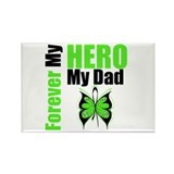 Lymphoma Hero Dad Rectangle Magnet