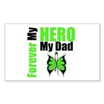 Lymphoma Hero Dad Rectangle Sticker 50 pk)