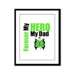 Lymphoma Hero Dad Framed Panel Print