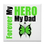 Lymphoma Hero Dad Tile Coaster
