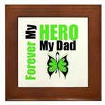 Lymphoma Hero Dad Framed Tile