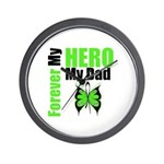 Lymphoma Hero Dad Wall Clock