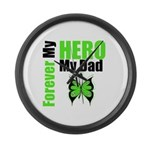 Lymphoma Hero Dad Large Wall Clock
