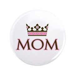 "Queen Mom 3.5"" Button"