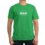 NDN Oval Design Men's Fitted T-Shirt (dark)