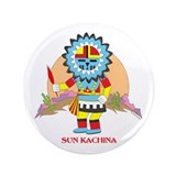 "SUN KACHINA 3.5"" Button"