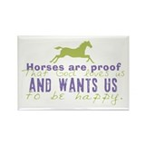 Horses Are Proof Rectangle Magnet (100 pack)
